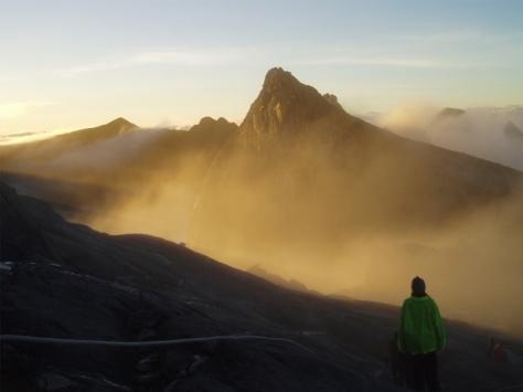 Sunrise at Mt Kinabalu, Sabah, Malaysia.